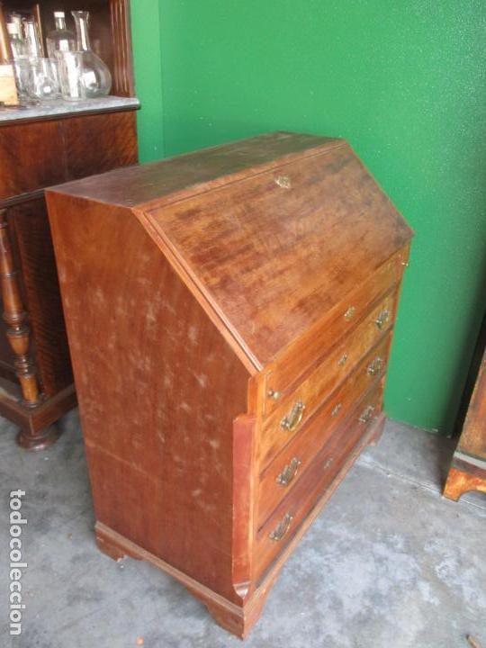Antigüedades: Canterano, Escritorio Pequeño - Madera de Caoba - 89 cm Ancho, 47 cm Fondo, 97 cm Altura - Foto 18 - 160225358