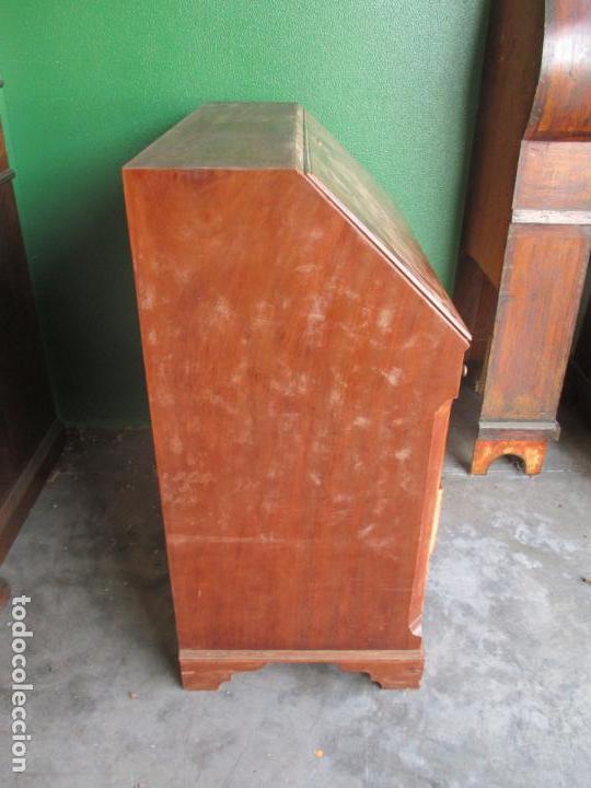 Antigüedades: Canterano, Escritorio Pequeño - Madera de Caoba - 89 cm Ancho, 47 cm Fondo, 97 cm Altura - Foto 19 - 160225358