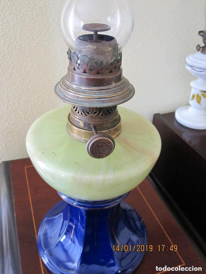 ANTIGUA LAMPARA QUINQUE DE ACEITE (Antigüedades - Iluminación - Quinqués Antiguos)