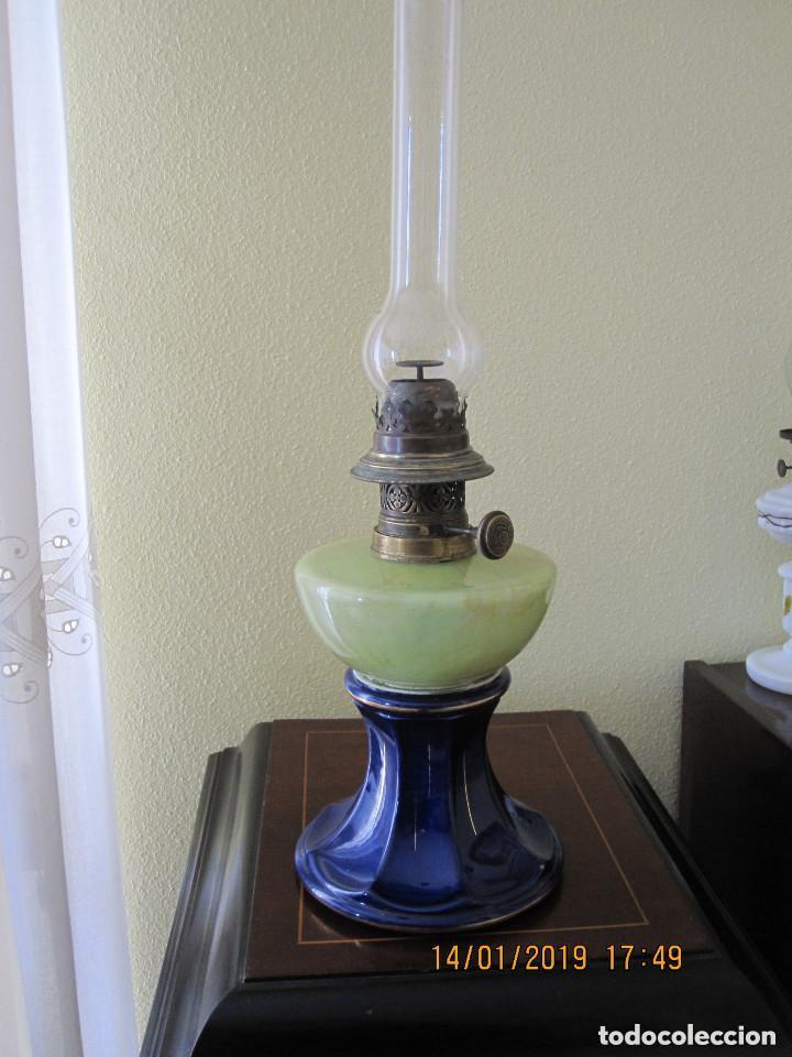 Antigüedades: antigua lampara quinque de aceite - Foto 2 - 160226518