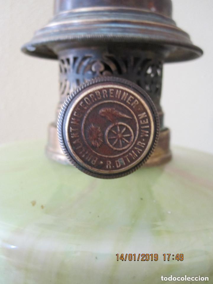 Antigüedades: antigua lampara quinque de aceite - Foto 3 - 160226518