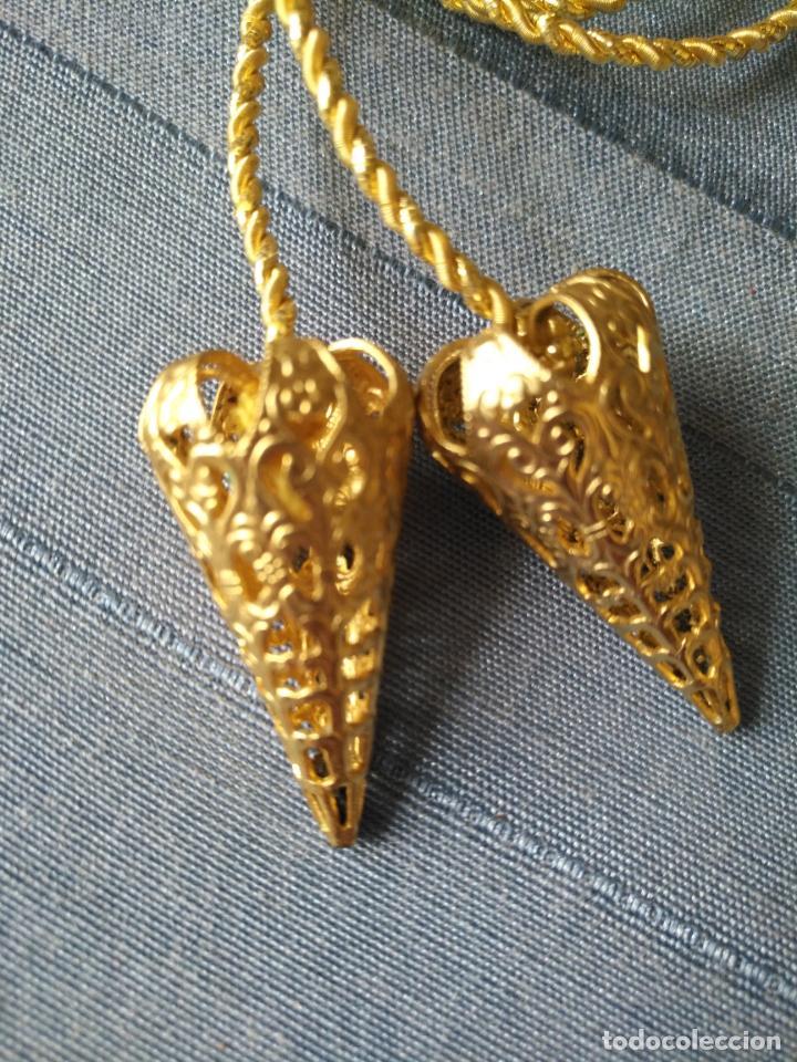 Antigüedades: espectacular cordon fajin cingulo para niño jesus o virgen orfebreria filigrana y cordon oro fino - Foto 8 - 207526612