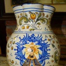 Antigüedades: JARRA DE TALAVERA CERÁMICA DEL SIGLO XIX VIRGEN DEL PRADO.. Lote 160250338