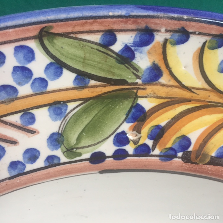 Antigüedades: Plato cerámica Manises 34.5x4.5 - Foto 4 - 160263549