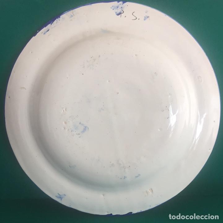 Antigüedades: Plato cerámica Manises 34.5x4.5 - Foto 6 - 160263549