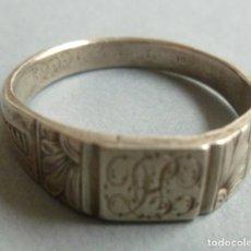 Antigüedades: ANTIGUO ANILLO DE PLATA DE LEY 925 . Lote 160266962