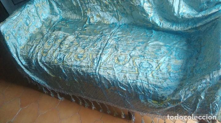 Antigüedades: Preciosa colcha antigua con motivos exoticos - Foto 2 - 160274470