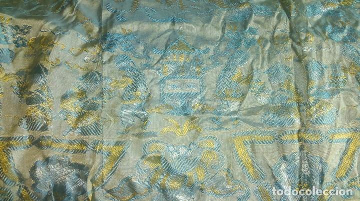 Antigüedades: Preciosa colcha antigua con motivos exoticos - Foto 4 - 160274470