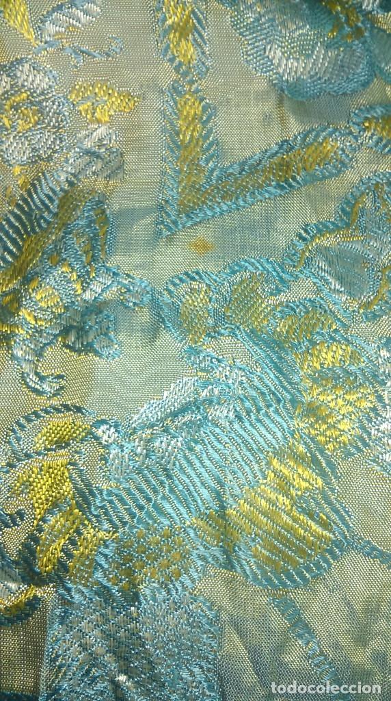 Antigüedades: Preciosa colcha antigua con motivos exoticos - Foto 9 - 160274470
