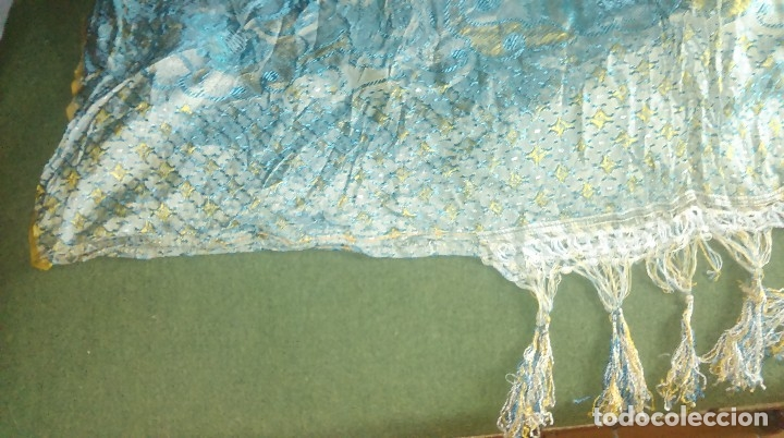 Antigüedades: Preciosa colcha antigua con motivos exoticos - Foto 11 - 160274470
