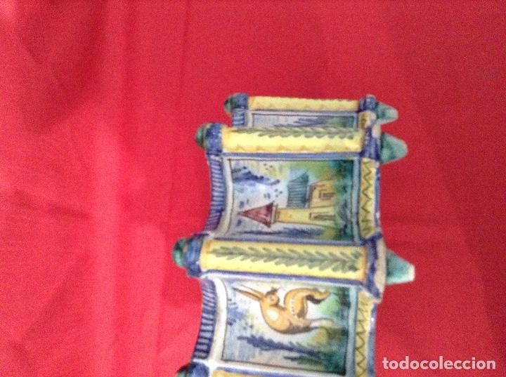 Antigüedades: tintero Ceramica de Triana , medidas 23 centimetros x 11 ' 5 centimetros de altura - Foto 4 - 160282282