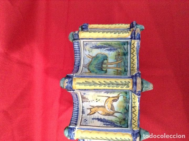Antigüedades: tintero Ceramica de Triana , medidas 23 centimetros x 11 ' 5 centimetros de altura - Foto 5 - 160282282