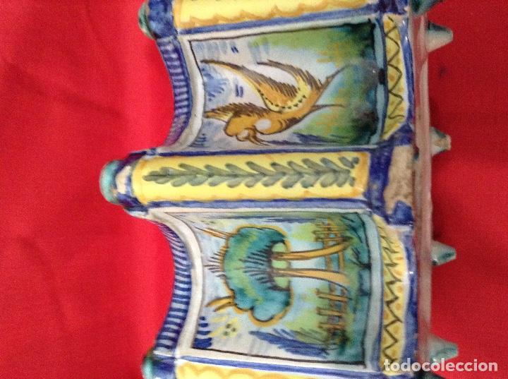 Antigüedades: tintero Ceramica de Triana , medidas 23 centimetros x 11 ' 5 centimetros de altura - Foto 6 - 160282282