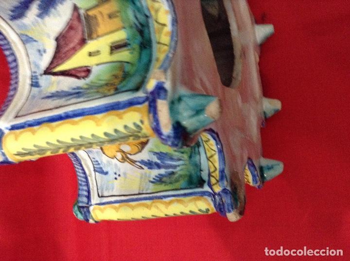 Antigüedades: tintero Ceramica de Triana , medidas 23 centimetros x 11 ' 5 centimetros de altura - Foto 7 - 160282282
