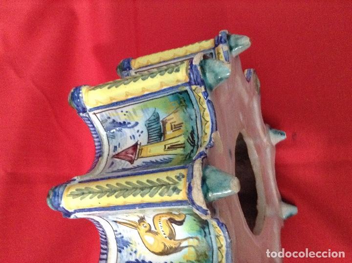 Antigüedades: tintero Ceramica de Triana , medidas 23 centimetros x 11 ' 5 centimetros de altura - Foto 11 - 160282282
