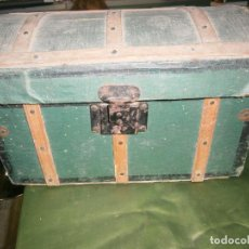 Antigüedades: BAUL DE MADERA O COFRE MD 37 X 21 X 21 CTM. Lote 160282634