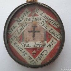 Antigüedades: RELICARIO CON RELIQUIAS DE VARIOS SANTOS.. Lote 160305657