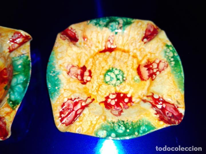 Antigüedades: lote 2 ceniceros-esmaltados-artesanales-nuevos-ver fotos - Foto 2 - 160306690