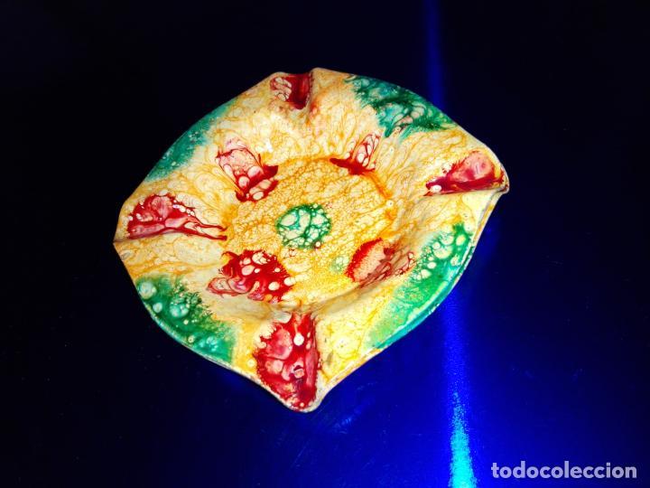 Antigüedades: lote 2 ceniceros-esmaltados-artesanales-nuevos-ver fotos - Foto 5 - 160306690