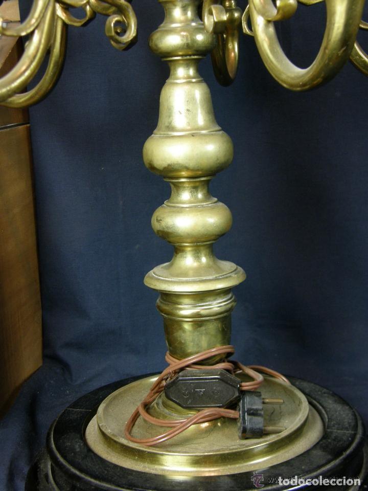 Antigüedades: PRECIOSOS CANDELABROS BRONCE - Foto 10 - 160313078