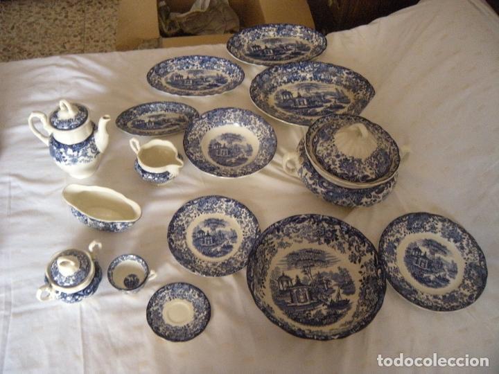 VAJILLA LA CARTUJA COLOR AZUL (Antigüedades - Porcelanas y Cerámicas - La Cartuja Pickman)