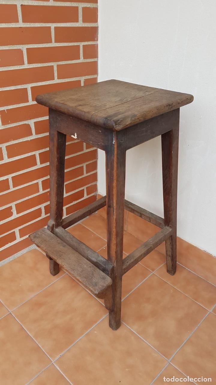 Antigüedades: BANQUETA INDUSTRIAL ANTIGUA DE MADERA,PRECIOSA PIEZA,AÑOS 40 APROX - Foto 2 - 160325286