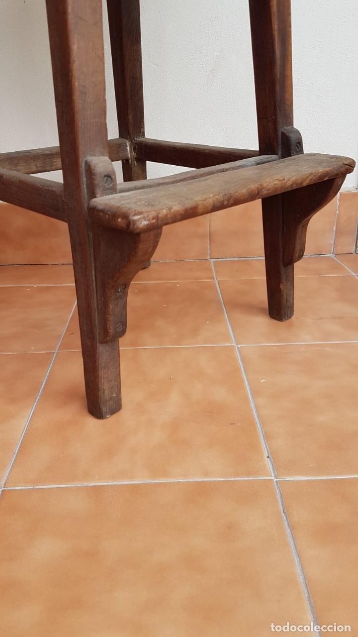 Antigüedades: BANQUETA INDUSTRIAL ANTIGUA DE MADERA,PRECIOSA PIEZA,AÑOS 40 APROX - Foto 3 - 160325286