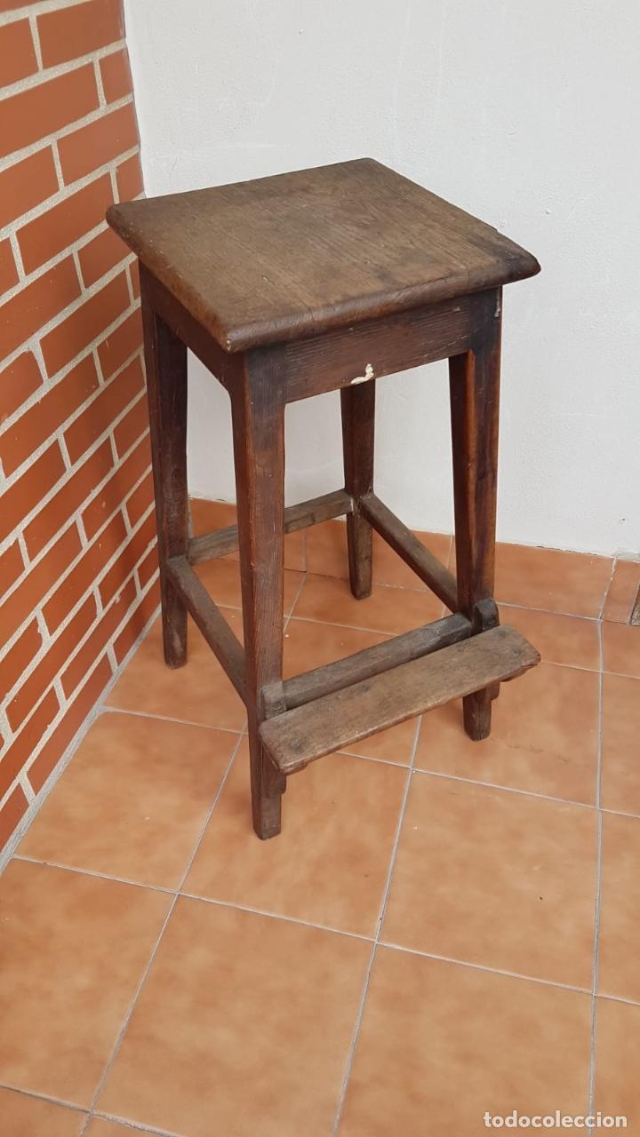 Antigüedades: BANQUETA INDUSTRIAL ANTIGUA DE MADERA,PRECIOSA PIEZA,AÑOS 40 APROX - Foto 4 - 160325286