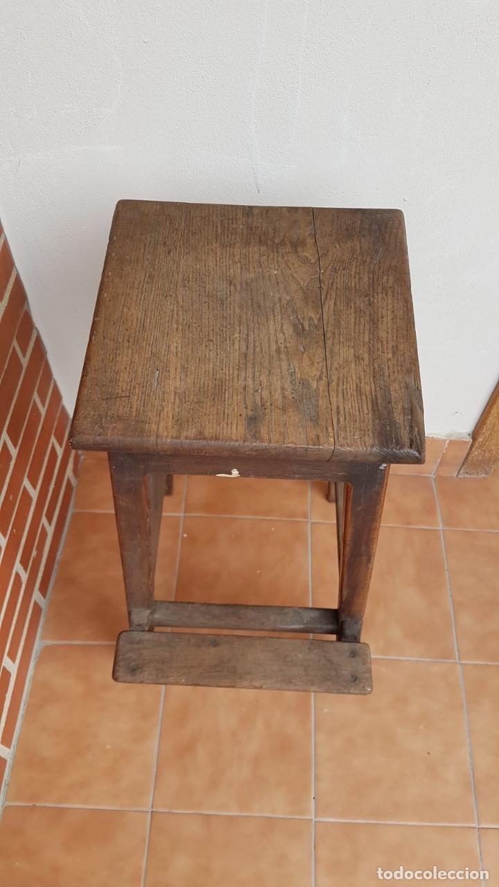 Antigüedades: BANQUETA INDUSTRIAL ANTIGUA DE MADERA,PRECIOSA PIEZA,AÑOS 40 APROX - Foto 5 - 160325286