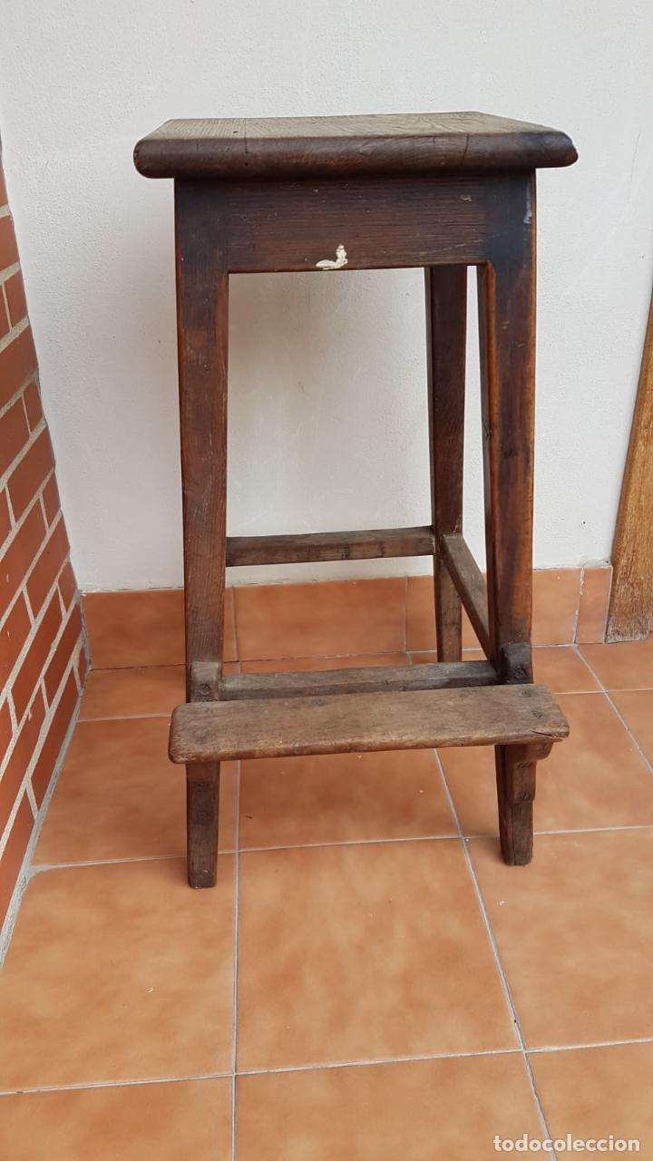 Antigüedades: BANQUETA INDUSTRIAL ANTIGUA DE MADERA,PRECIOSA PIEZA,AÑOS 40 APROX - Foto 6 - 160325286