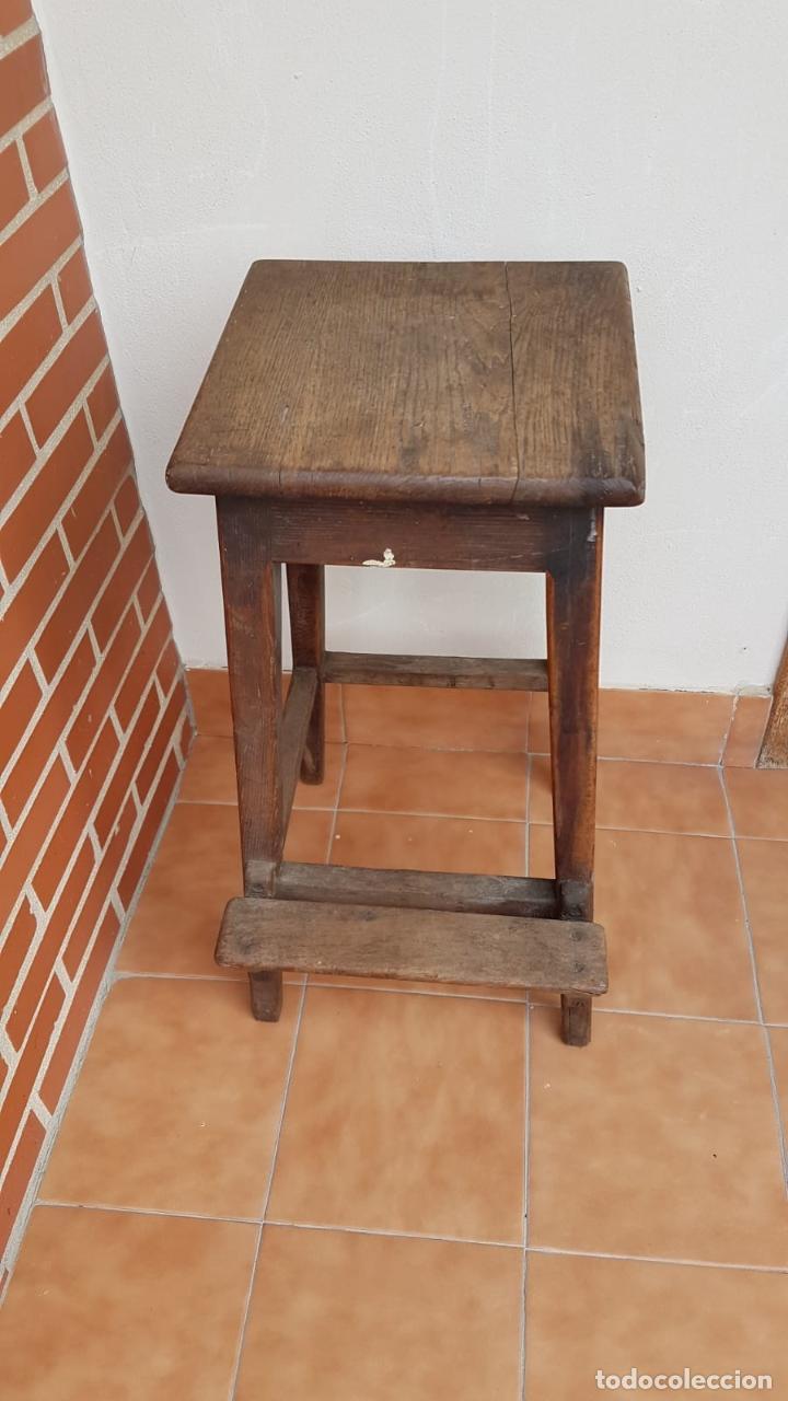 Antigüedades: BANQUETA INDUSTRIAL ANTIGUA DE MADERA,PRECIOSA PIEZA,AÑOS 40 APROX - Foto 7 - 160325286