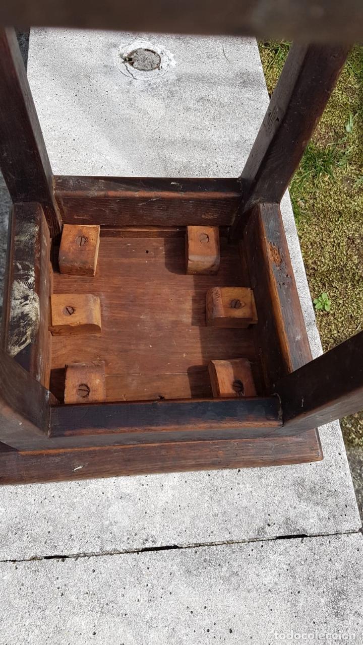 Antigüedades: BANQUETA INDUSTRIAL ANTIGUA DE MADERA,PRECIOSA PIEZA,AÑOS 40 APROX - Foto 9 - 160325286