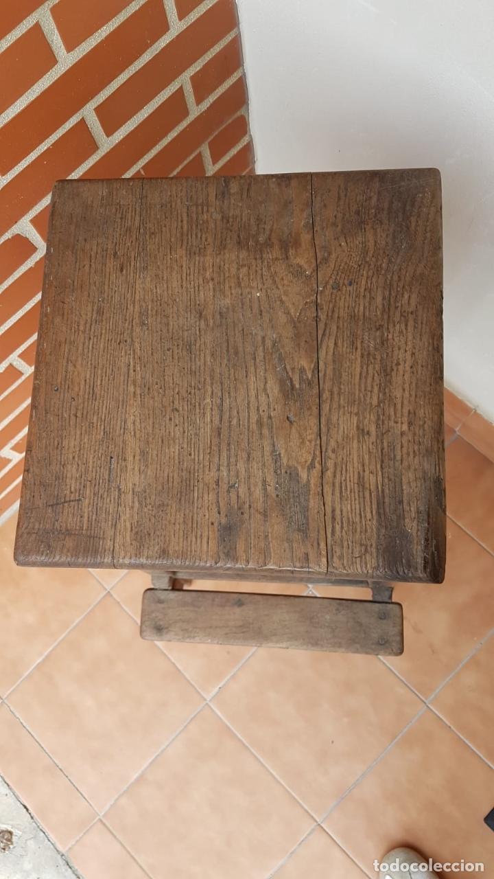 Antigüedades: BANQUETA INDUSTRIAL ANTIGUA DE MADERA,PRECIOSA PIEZA,AÑOS 40 APROX - Foto 10 - 160325286