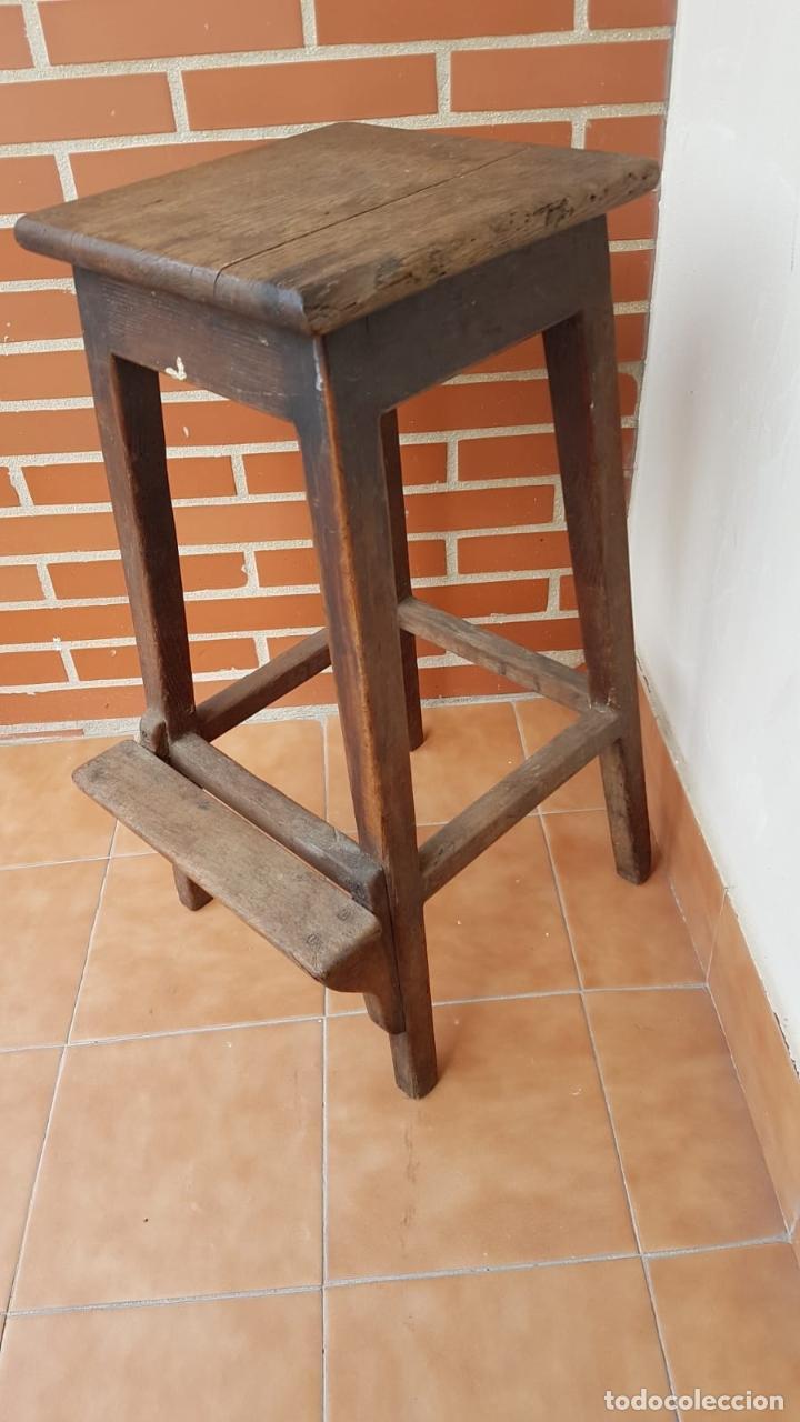 Antigüedades: BANQUETA INDUSTRIAL ANTIGUA DE MADERA,PRECIOSA PIEZA,AÑOS 40 APROX - Foto 11 - 160325286