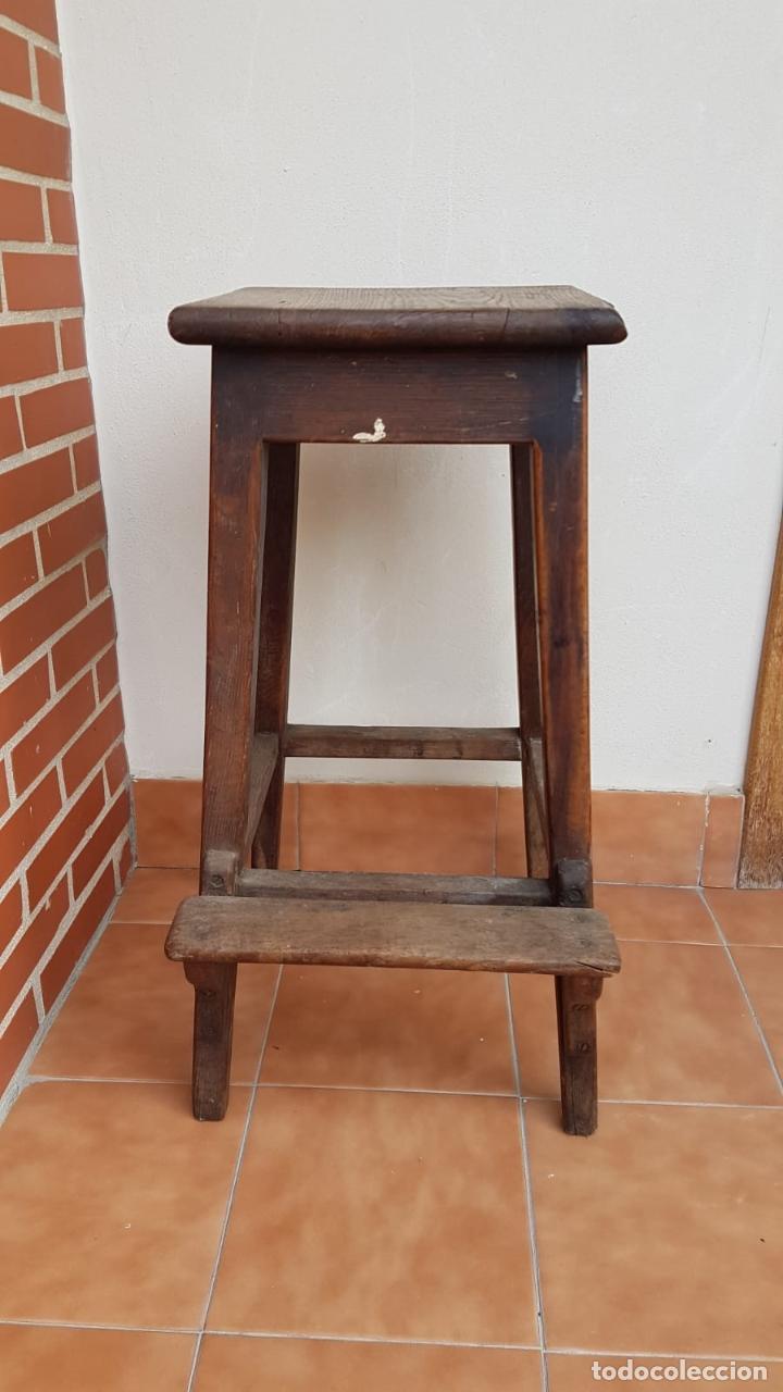Antigüedades: BANQUETA INDUSTRIAL ANTIGUA DE MADERA,PRECIOSA PIEZA,AÑOS 40 APROX - Foto 12 - 160325286