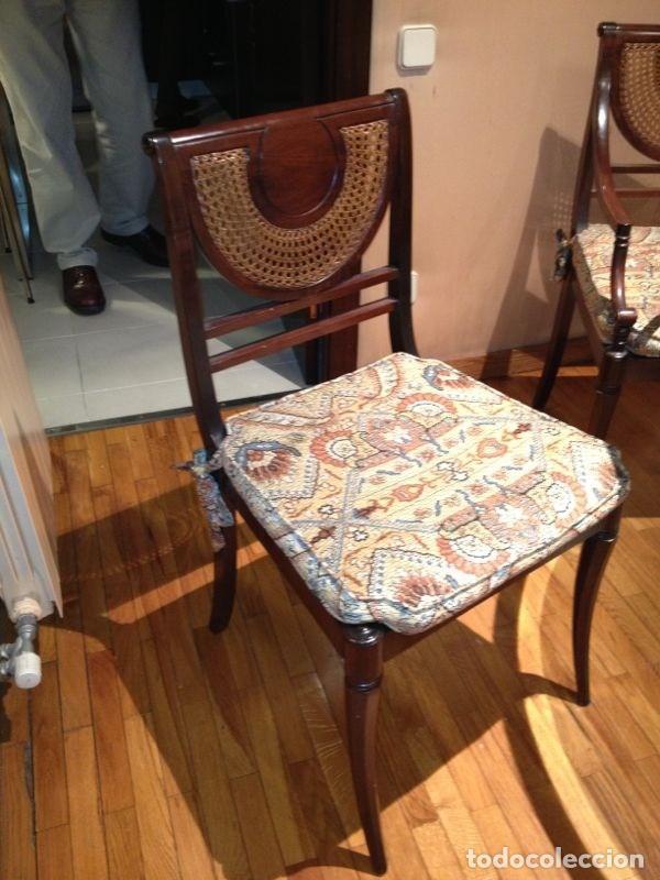 Antigüedades: Sillas de rejilla, lote de hasta 4 sillas - Foto 2 - 136720046