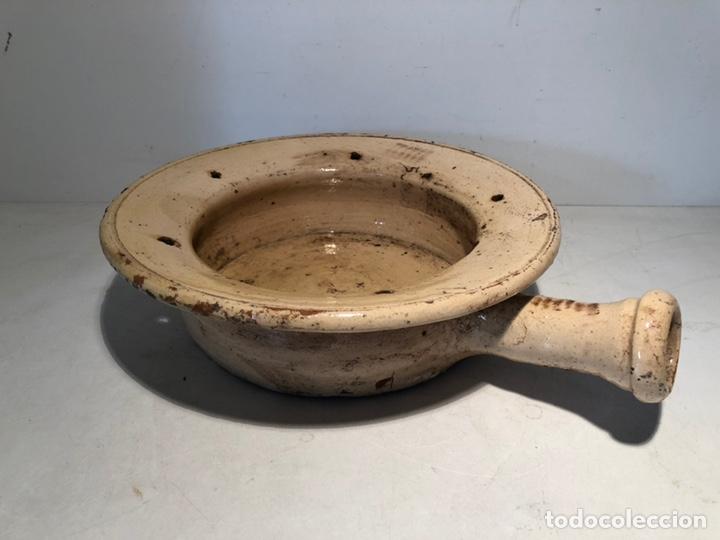 BACINILLA O CUÑA DE CERAMICA POPULAR CATALANA ANTIGUA (Antigüedades - Porcelanas y Cerámicas - Catalana)