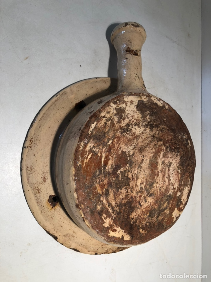 Antigüedades: BACINILLA O CUÑA DE CERAMICA POPULAR CATALANA ANTIGUA - Foto 5 - 160336922