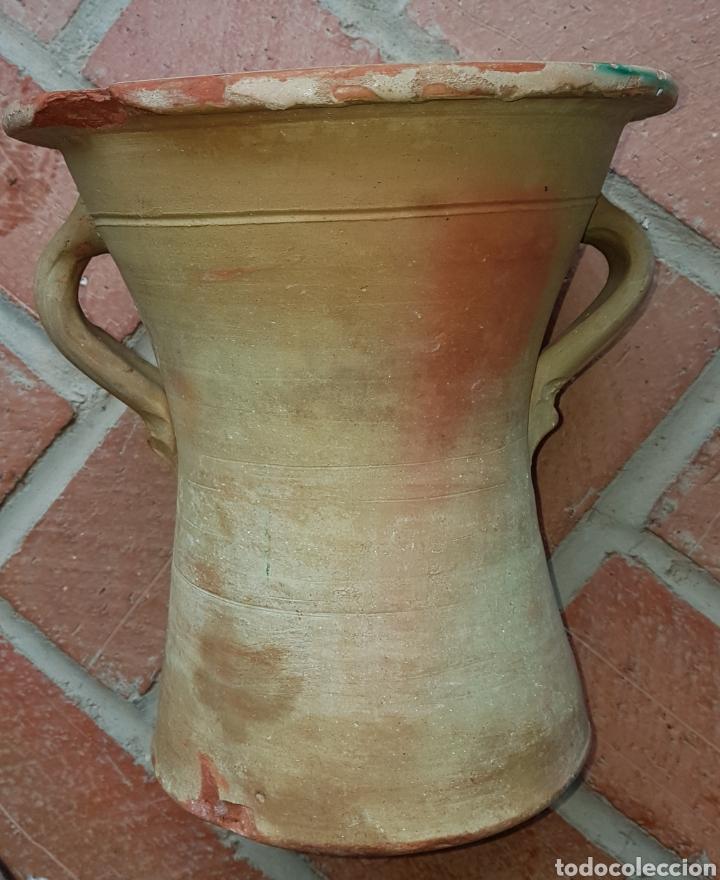 Antigüedades: Antigua preciosa cubeta cerámica de lavadero ubeda - Foto 2 - 160339632