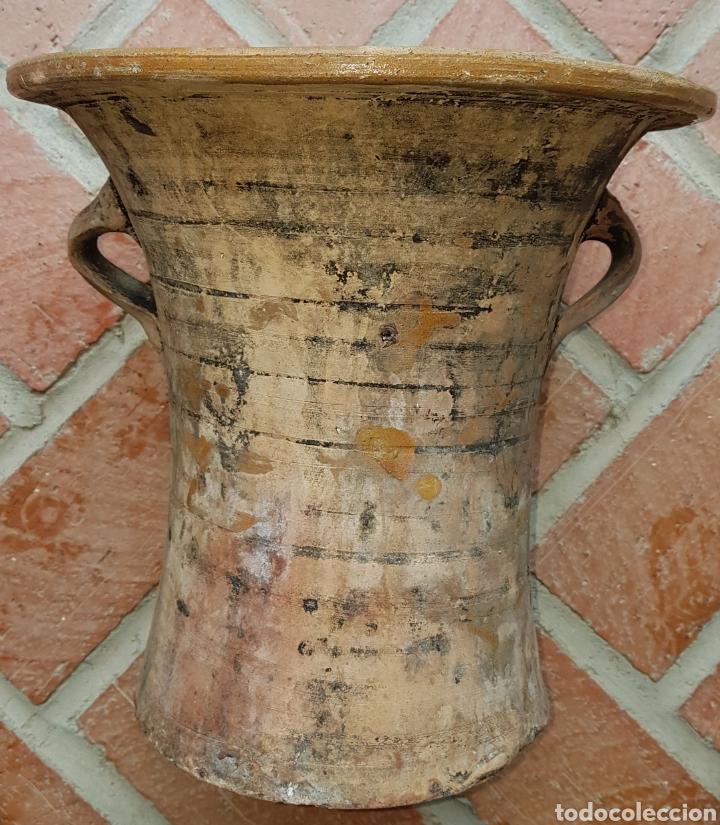 Antigüedades: Antigua preciosa cubeta de lavadero Ubeda - Foto 2 - 160339866