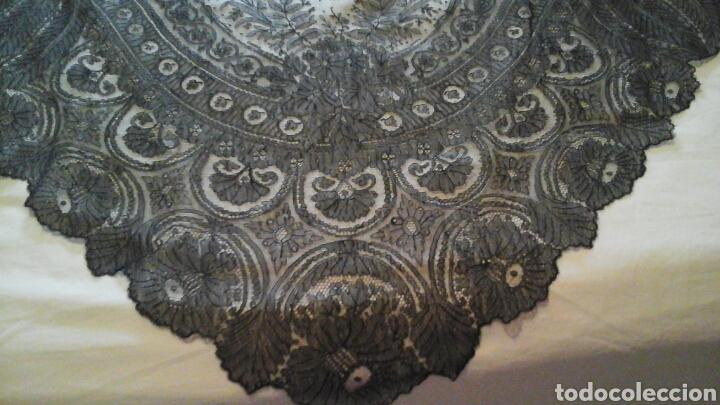 Antigüedades: Mantilla triangular de encaje de Cambrails - Foto 2 - 160340516