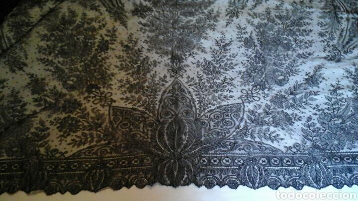 Antigüedades: Mantilla triangular de encaje de Cambrails - Foto 4 - 160340516