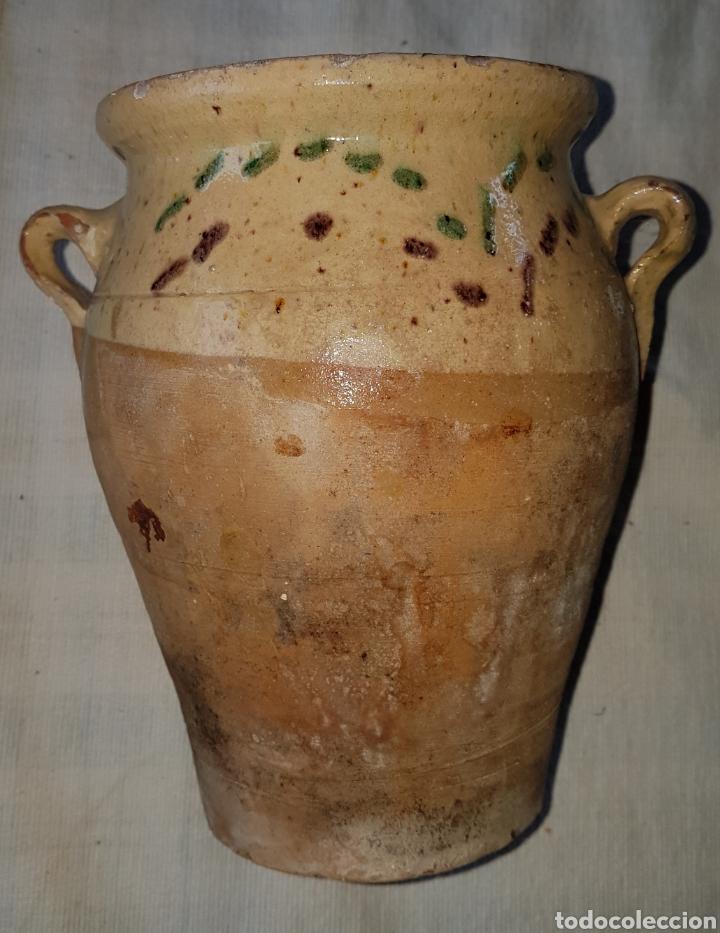 Antigüedades: Antigua pequeña orza vidriada Ubeda - Foto 2 - 160341604