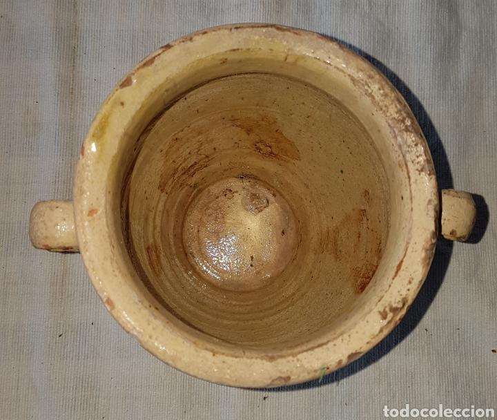 Antigüedades: Antigua pequeña orza vidriada Ubeda - Foto 3 - 160341604