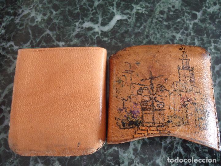 Antigüedades: Antigua carterita para cerillas pintada a mano. Sevilla. Firmada uría. 6x5x1 cms. - Foto 2 - 160345254