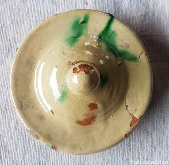 ANTIGUA TAPADERA ORZA VIDRIADA (Antigüedades - Porcelanas y Cerámicas - Úbeda)