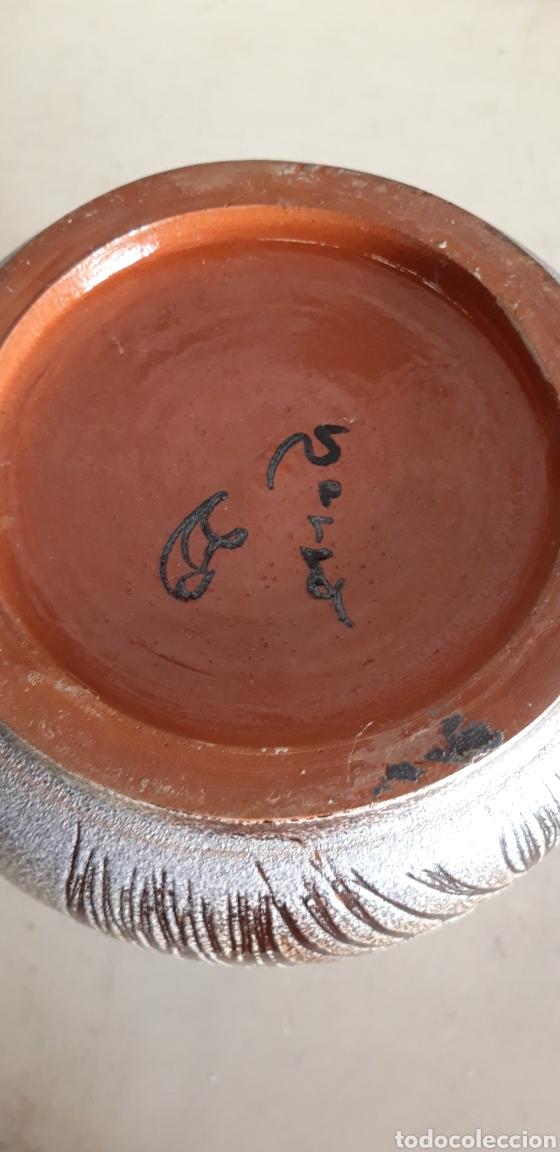Antigüedades: Impresionante jarrón en cerámica firmado J.Serra . Famosa nisaga de ceramistas. Años 70 - Foto 4 - 160359146