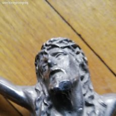 Antigüedades: ANTIGUO JESUCRISTO METAL - CRISTO (JESUS) COLOR PLATA. Lote 160407170