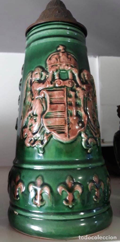 JARRA DE CERVEZA EN CERÁMICA ALEMANA (Antigüedades - Porcelana y Cerámica - Alemana - Meissen)
