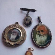 Antigüedades: MEDALLAS FRAY LEOPOLDO LA PEQUEÑITA PONE BAÑO DE ORO. Lote 194320536